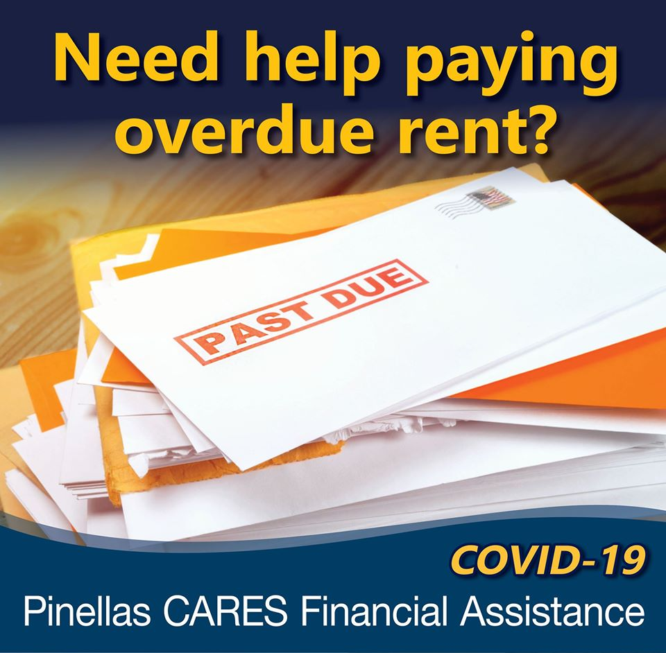 "Graphic of envelope with ""Past Due"" written on it in read. Title reads, ""need help paying overdue rent?"""